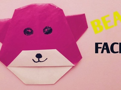 How to make origami bear face - paper bear face
