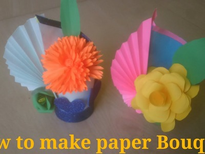 How to make paper Bouquet  ||  very easy