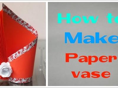 How to make paper vase   easy paper vase idea