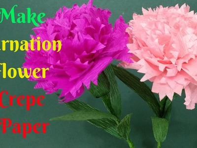 Instructions For Making Red Carnations From Crepe Paper | How To Make Carnation Crepe Paper Flower