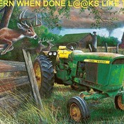 ( CRAFTS ) John Deere Crossing Cross Stitch Pattern***LOOK***Buyers Can Download Your Pattern As Soon As They Complete The Purchase