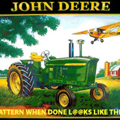 ( CRAFTS ) John Deere Plane Cross Stitch Pattern ***LOOK***Buyers Can Download Your Pattern As Soon As They Complete The Purchase