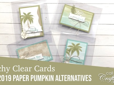 June 2019 Paper Pumpkin Alternatives | Beachy Clear Cards