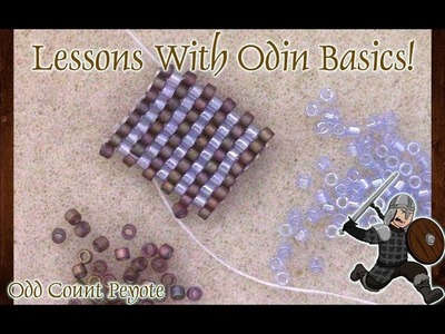 Learn to Bead the Odd Count Peyote Stitch - Basic Lessons With Odin