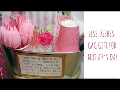 Less Dishes Gag Gift Idea for Mother's Day