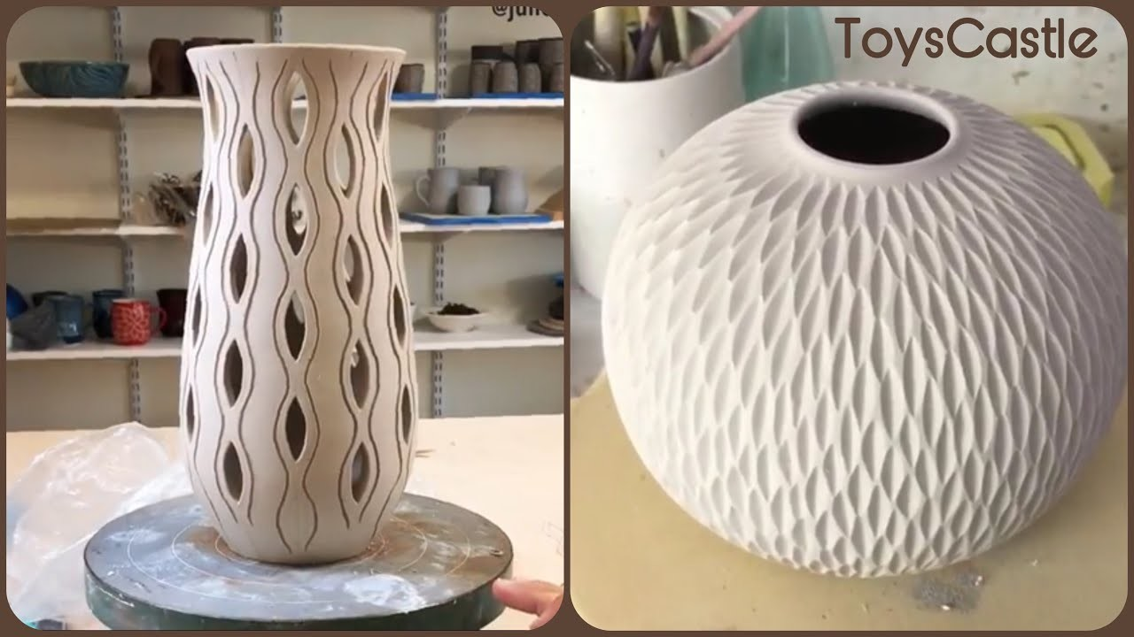 ODDLY SATISFYING POTTERY???? CARVING- Pottery & Ceramics Art #4 | ToysCastle