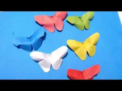 Paper BUTTERFLIES (very EASY)_How to make a paper Butterfly? Creative Rubina