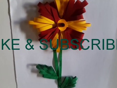 Paper flower by comb