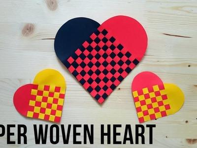 Paper Woven Heart Tutorial