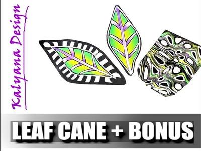 Polymer clay leaf cane tutorial + bonus - 584