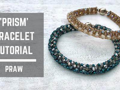 Prism bracelet tutorial | Prismatic Right Angle Weave | Beaded Bracelet