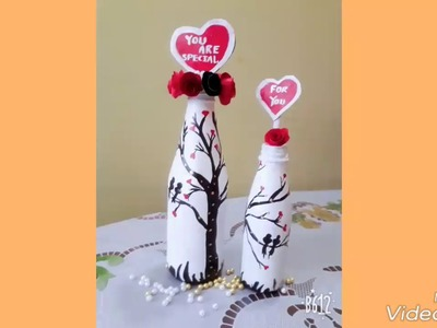 Sauce bottle art.surprise gift for your friend and love\home made gift for husband