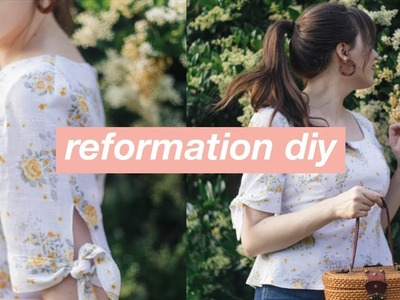 Sew With Me: DIY Reformation Tie-Sleeve Top