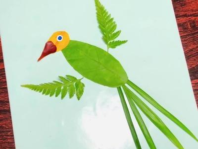 Simple leaf art for kids. Leaf craft ideas