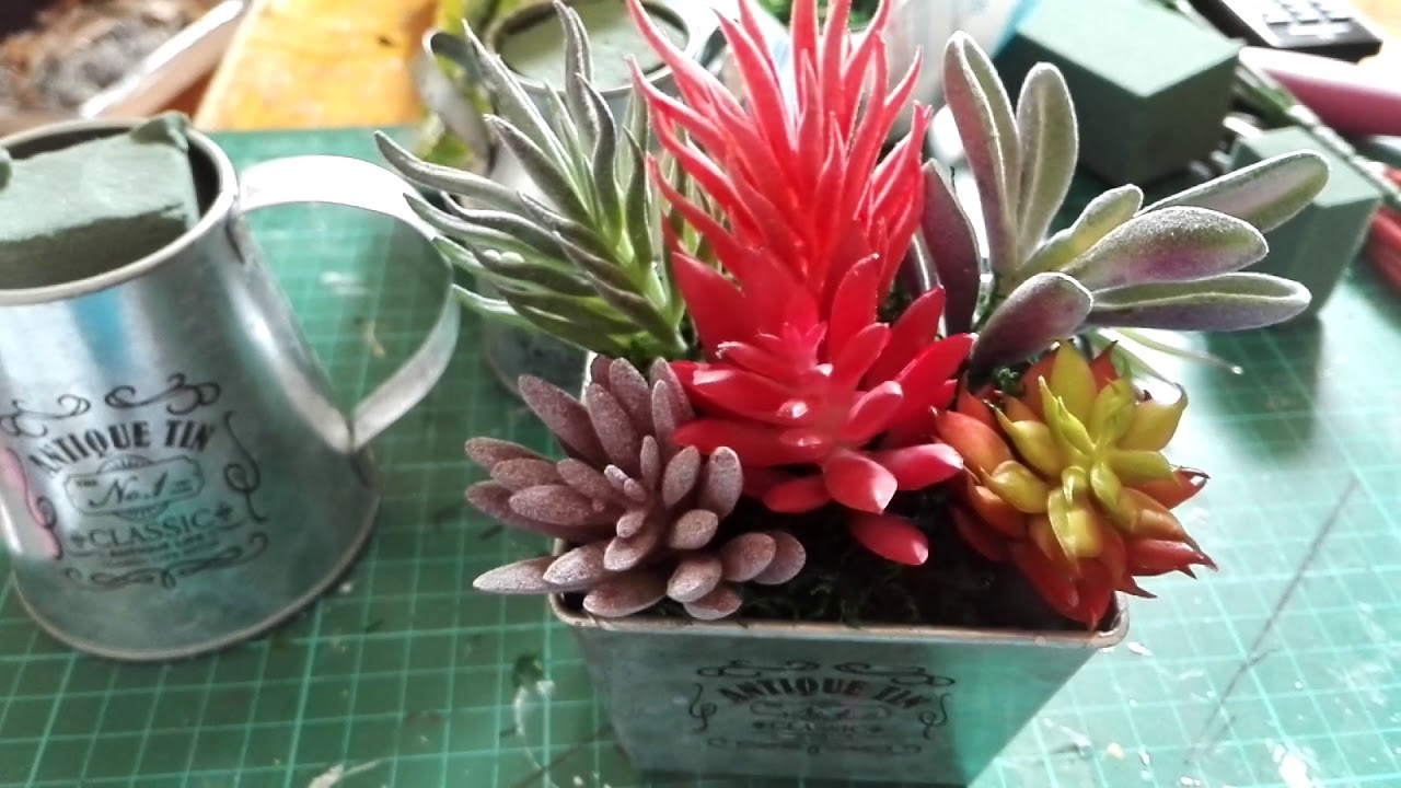 Succulent and floral crafts for Easter and Spring.