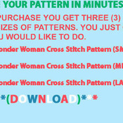 CRAFTS Wonder Woman Cross Stitch Pattern***LOOK***