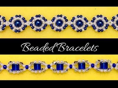 Beading tutorial.  DIY Bracelets. Easy beading for BEGINNERS