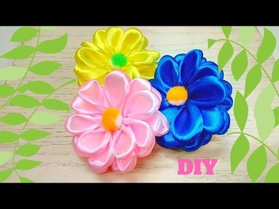 D.I.Y.  |  How to  make simple and easy kanzashi flower  |  hairtie