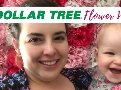 DIY $30 Flower Wall For Floral Garden Birthday Party Decor | Dollar Tree DIY