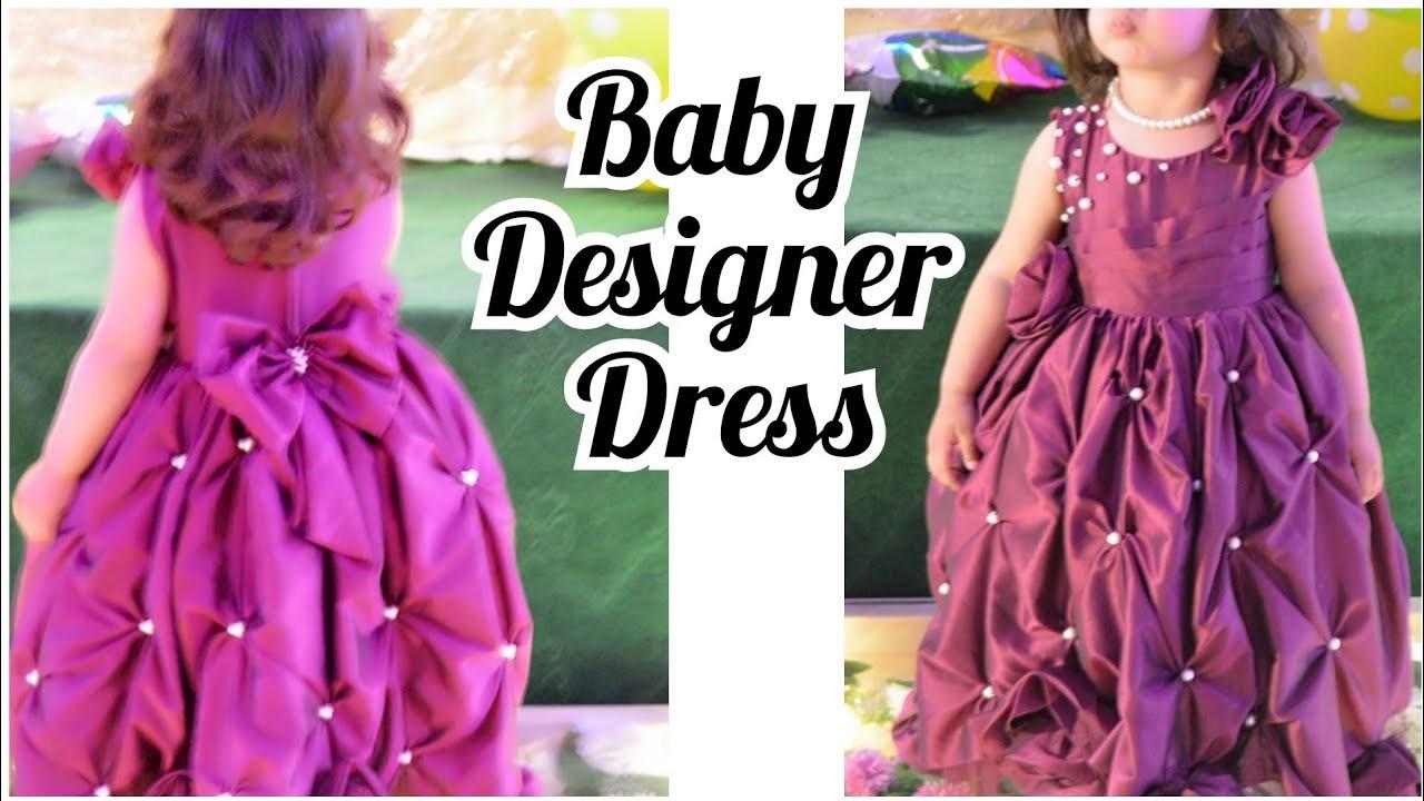 Diy Bubble Hem party wear gown.Specil Eid baby dress Tutorial