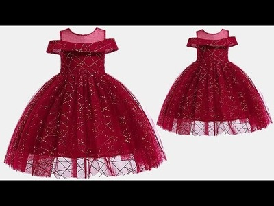 DIY Designer Baby Frock With Easy Steps Explained in Detail Full Tutorial