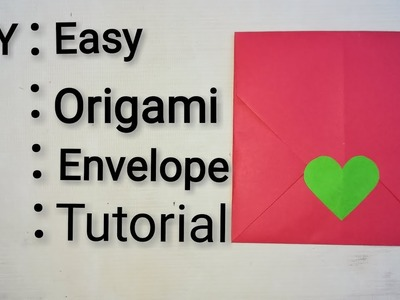 DIY | Easy Origami Envelope Tutorial | Paper Carfts | English
