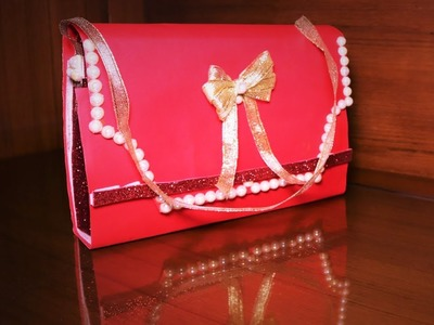 DIY ELEGANT PAPER GIFTING BAG. SHIMMERY AND GLITTERY
