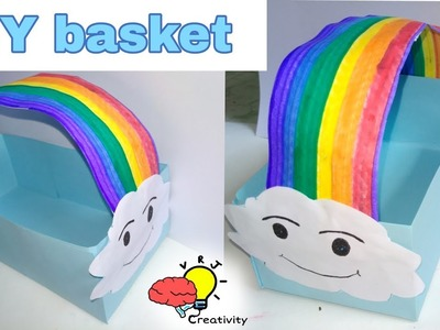 DIY flower basket from paper  |diy crafts  tutorial