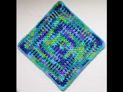 DIY -- HOW TO CROCHET: 00 Single Color Basic Moss Stitch Square UPDATED || Cheryl Dee Crochet