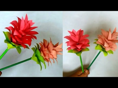 DIY How to make Attractive Paper Flower | Easy Paper Flower Tutorial | Paper Craft |Handmade Thing
