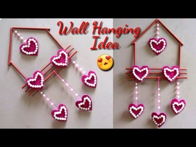 DIY How to make simple wall hanging at home | Diy Wall Hanging from Paper Stick | Handmade thing