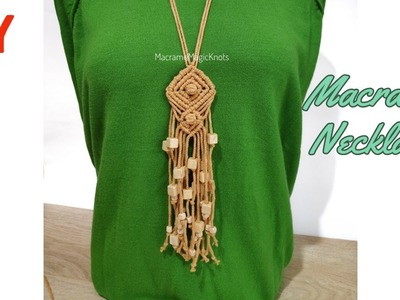 DIY Macrame Necklace Tutorial   Bubble Macrame Pattern   Handmade Necklace Ideas