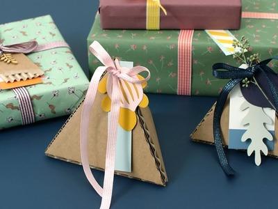 DIY : Make fine gift boxes from reused cardboard by Søstrene Grene