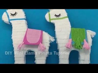 DIY Mini Llama Pinata Tutorial by paperglitterglue.com