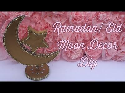 DIY RAMADAN EID DECORATION WITH CARDBOARD! | MOON DECOR | Ramadan Eid Decoration | ArtsyMinds