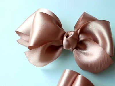 DIY - Satin Hair Bow Tutorial | Cara Membuat Simpul Pita Satin