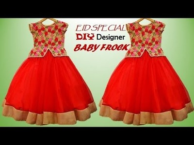 EID SPECIAL.DIY DESIGNER BABY FROCK CUTTING AND STITCHING FULL TUTORIAL