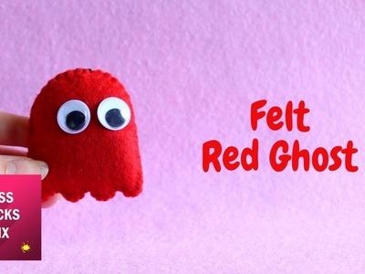 Felt Blinky PAC MAN Red Ghost Keychain DIY Tutorial.