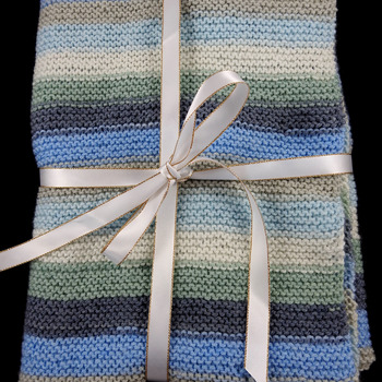 Hand Knitted Baby Blanket Of Random Colours - Free Shipping
