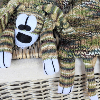 Handmade Knitted Multicolored Child's Dog Scarf - Free Shipping