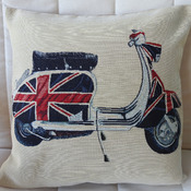 Handmade Scooter II Tapestry Cushion Cover - Free Shipping