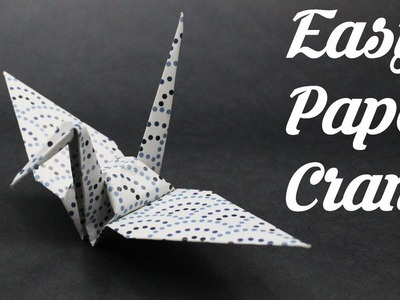 How to Make a Paper Crane | DIY Origami Paper Crafts | Easy Origami Kids | Craft Ideas | Decoration