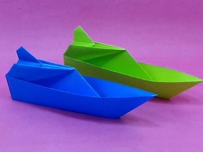 How To Make a Paper Yacht - Paper Boat Making Tutorial - DIY Origami Boat