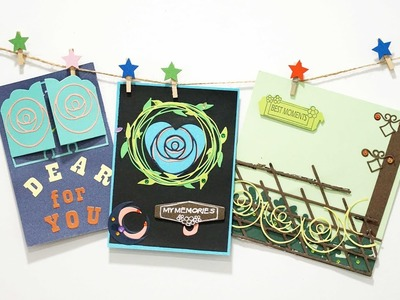 How to make easy card with dies and stamps---InLoveartshop DIY card making & Paper Crafts