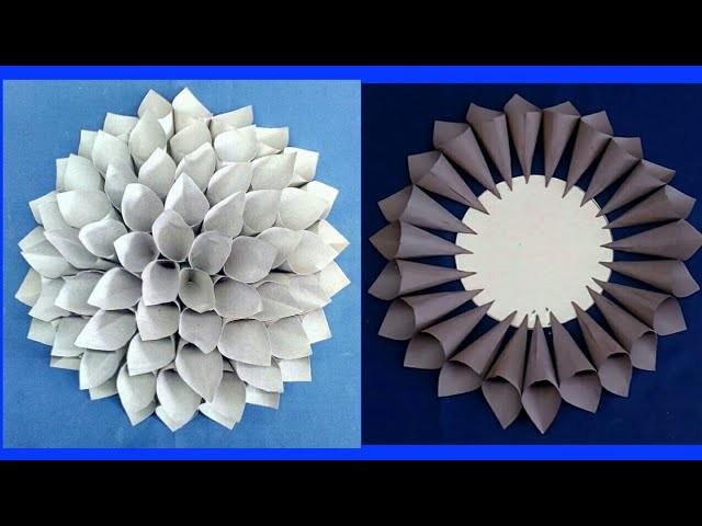 How to make Paper Dahila | DIY Paper Dahila tutorial | DIY Crafts | Home decor project