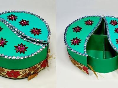 How to Make Very Beautiful Paper Gift Box   DIY Box   Jewelry Box   Jarine's Crafty Creation