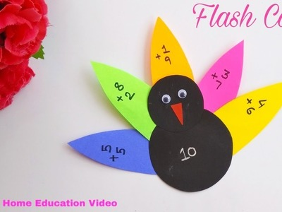 Kids special : Flash Card l Easy.DIY.handmade.greeting card l How to l Shilpa's Home Education Video