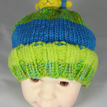 Knitted Child's Monkey Winter Hat - FREE SHIPPING