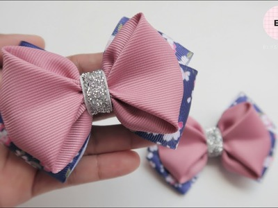 Laço De Fita ???? Ribbon Bow Tutorial #50 ???? DIY by Elysia Handmade