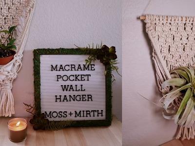 Macrame Pocket Wall Hanging ????- DIY Tutorial